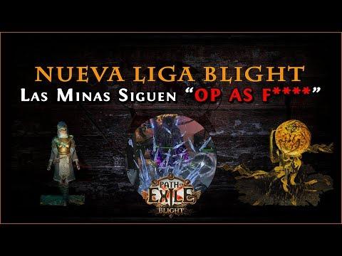Path Of Exile - Liga Blight 3.8 || Tercer Personaje (Saboteur Con La Nueva Mina Icicle)