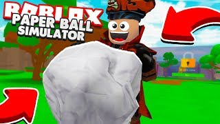 I MADE THE BIGGEST BALL OF PAPER IN PAPERBALL SIMULATOR ⭐ ROBLOX ⭐