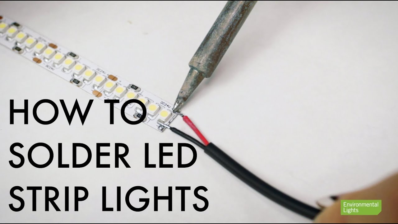 How to Solder LED Strip Lights - YouTube