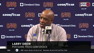 Larry Drew commends George Hill's veteran leadership during Cleveland tenure | CAVS-KINGS POSTGAME