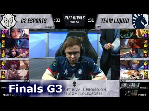 G2 eSports vs Team Liquid   Game 3 Relay Race Finals NA vs EU Rift Rivals 2019 LoL   G2 vs TL