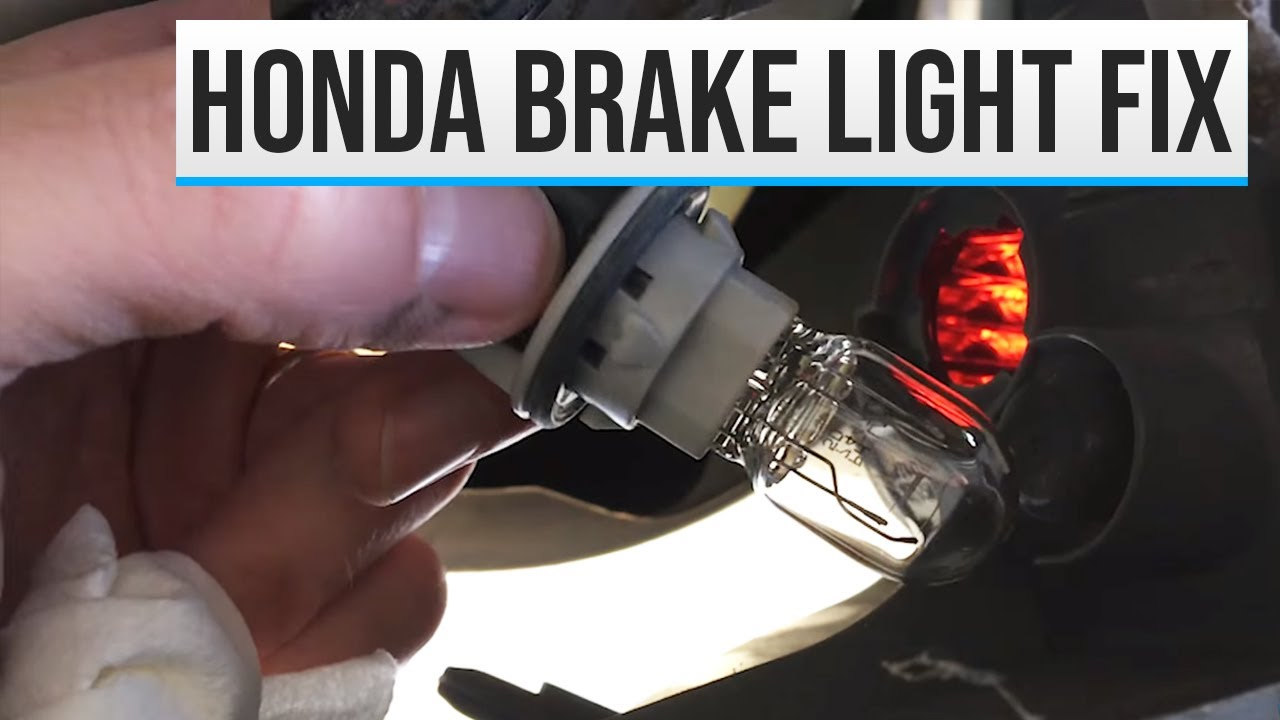 2007 Odyssey brake lights burned out, how to troubleshoot light ...