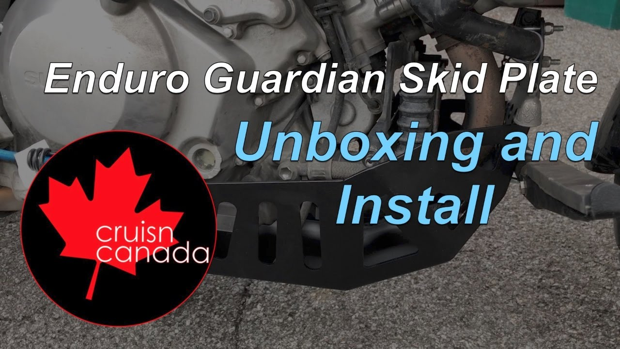 New Skid Plate and Highway Pegs by Enduro Guardian | Cruisn Canada