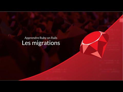 Apprendre Ruby on Rails (3/29) : Les Migrations