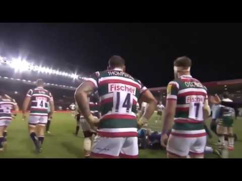 George North painful 'KO' against Leicester Tigers
