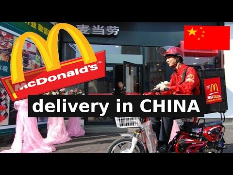 Mcdonald's China Online delivery service