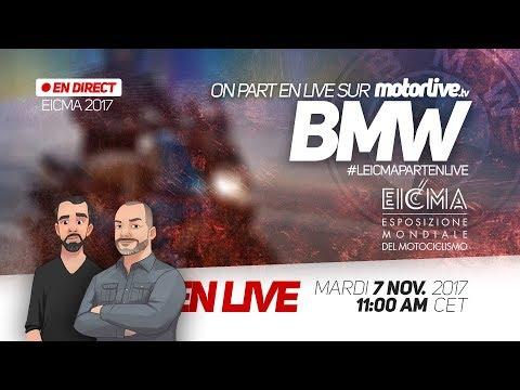 BMW MOTORRAD EN DIRECT DE MILAN ! #EICMA (REPLAY)