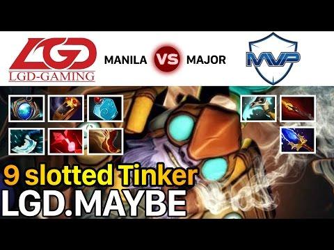 Dota 2 LGD.Maybe Beyond Godlike Tinker Almost 1vs5 MVP - Manila Major