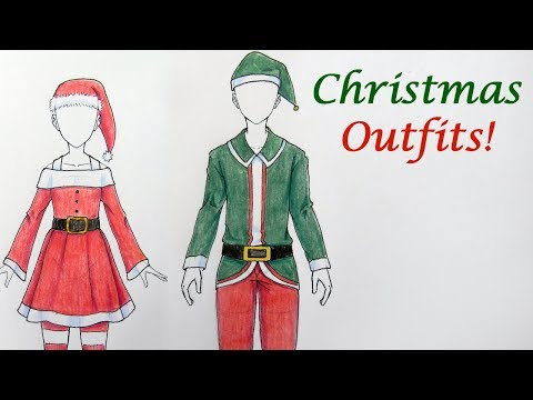 How To Draw Two Christmas Outfits!