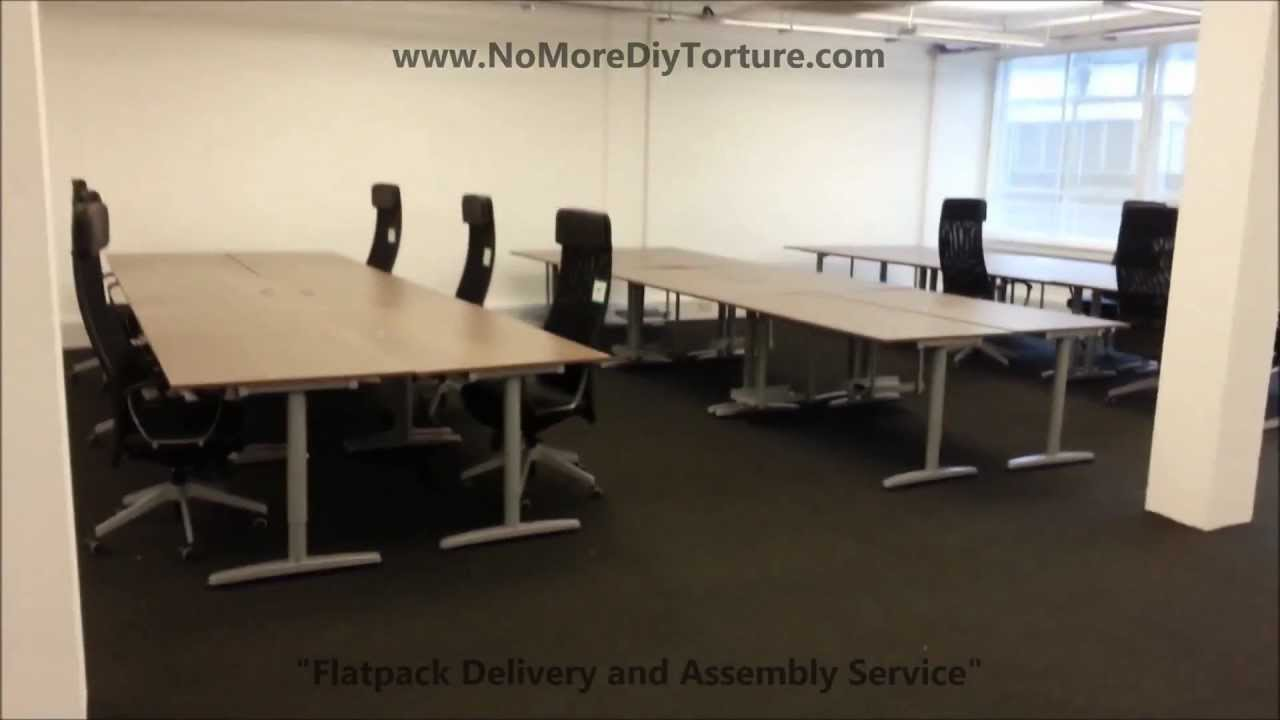 IKEA Office Furniture Galant Tables v2 YouTube