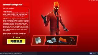 "Fortnite: Item Shop/ *NEW* ""Inferno's Challenge Pack"" released (LTO) | #sk8NPLay #nBKg"