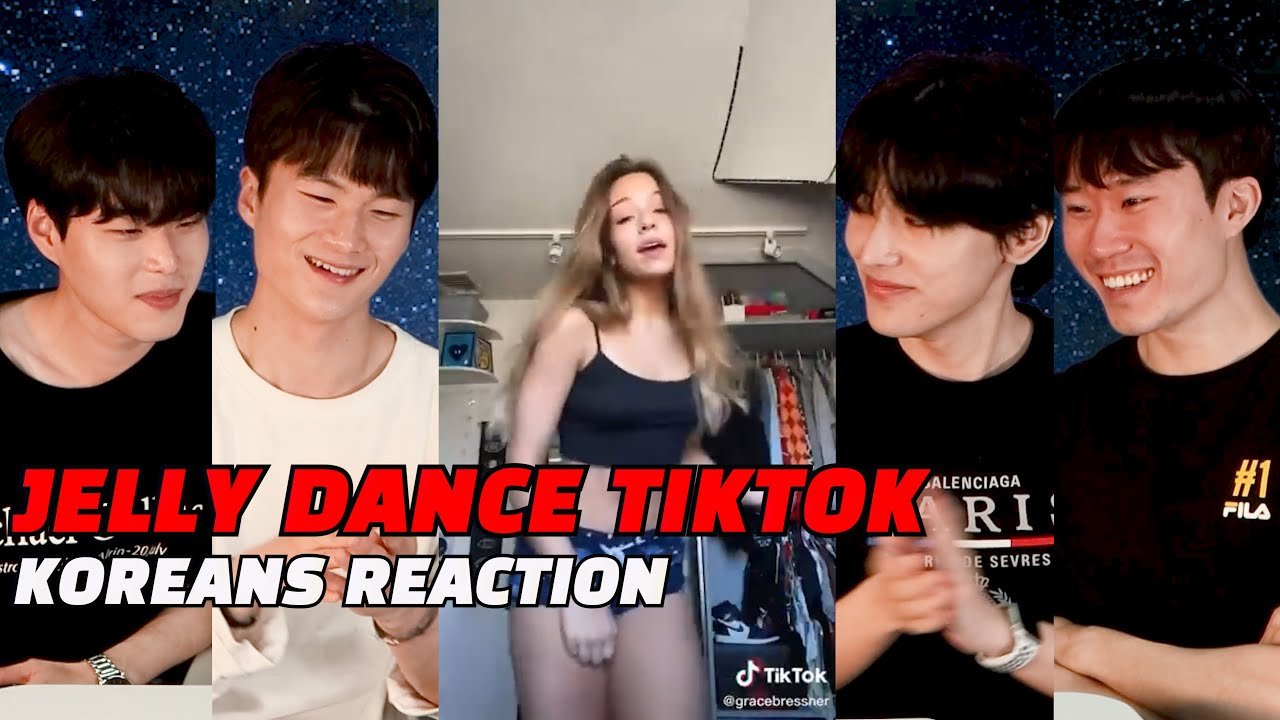 Koreans React To Jelly Dance TikTok Challenge Compilation for the first time