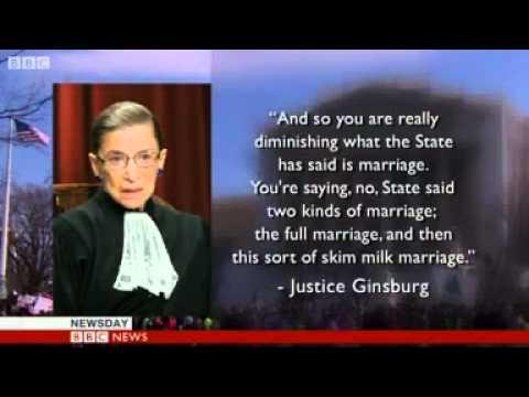 US Supreme Court debates Defense of Marriage Act.