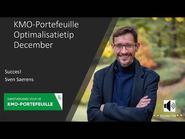 KMO-Portefeuille optimalisatie mogelijkheid december 2020