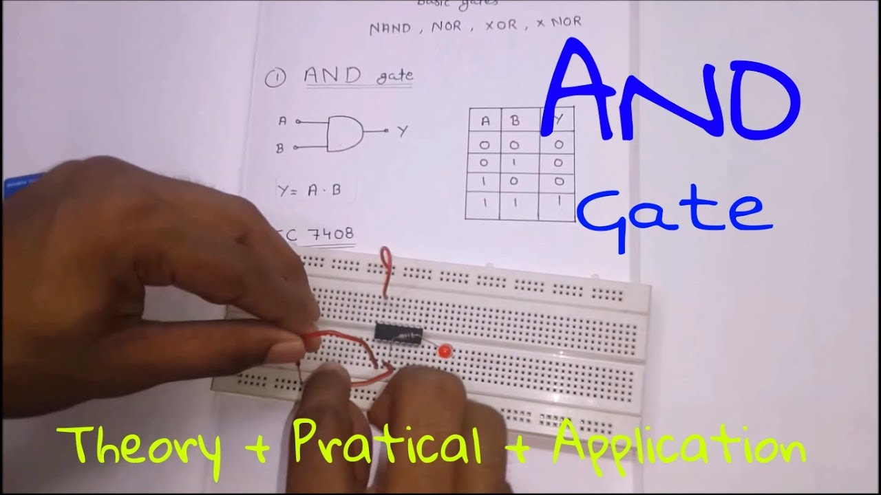 logic gates and gate theory practical application in hindi  [ 1280 x 720 Pixel ]