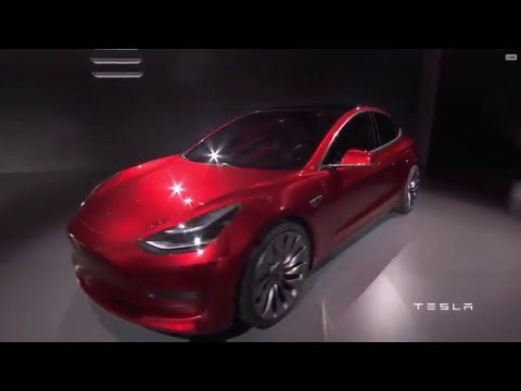 Tesla unveils its $35,000 Model 3 for the masses