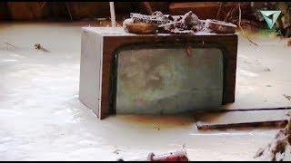 В Прикамье залитый водой дом ветерана ВОВ превратился в каток