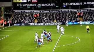 Andy Carroll's first goal for West Ham United against Tottenham
