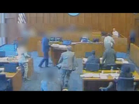 Newly released video shows deadly courtroom shooting in Utah