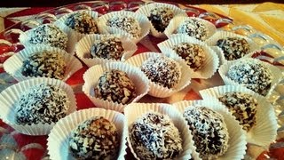 """No Bake Healthy """"chocolate"""" Truffles With Secret Ingredient!  Feast In The Middle East:episode 12"""