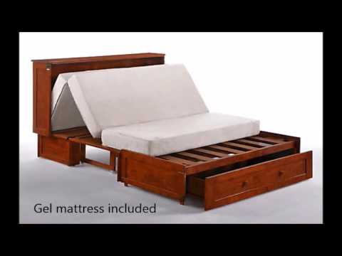 Sleepworks Murphy Cabinet Bed With Gel Memory Foam Mattress