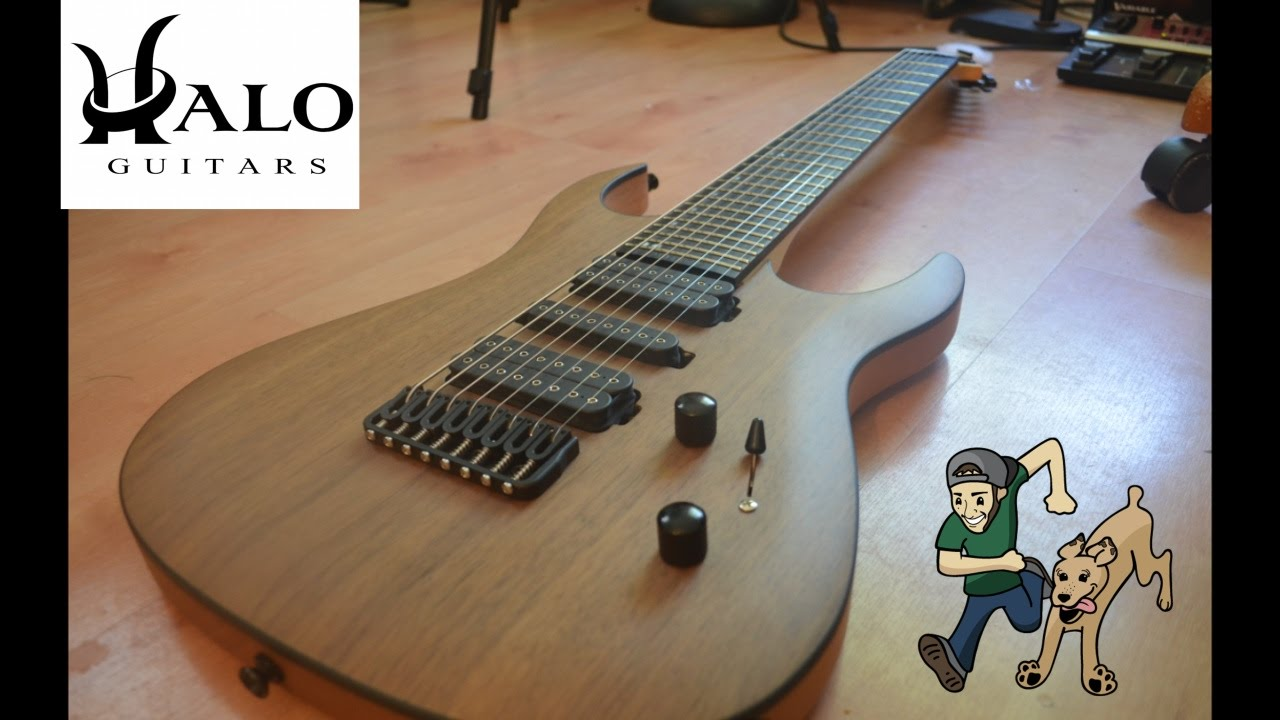 halo custom guitars merus 8 review demo youtube. Black Bedroom Furniture Sets. Home Design Ideas