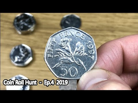 GUERNSEY FLORAL FIND! || £100 50p COIN ROLL HUNT || Ep.4 - 2019