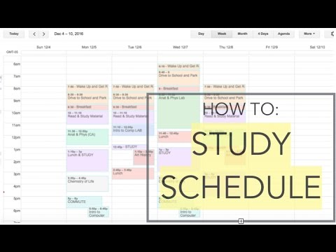 How to Plan a Study Schedule 2017 (google calendar) - YouTube