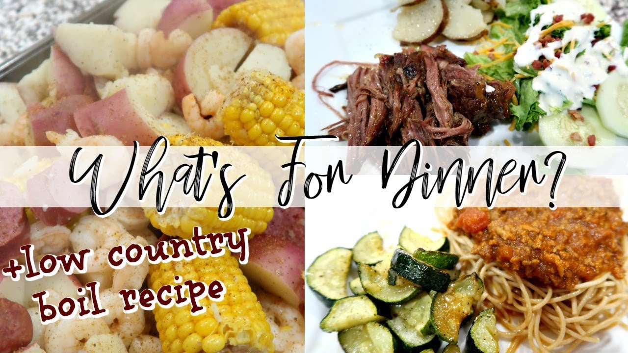WHAT'S FOR DINNER? | + EASY LOW COUNTRY BOIL RECIPE | FAMILY DINNER IDEAS |  Cook Clean And Repeat