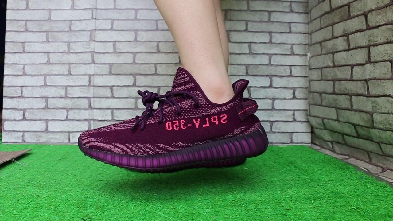 "7ba82895639cc Adidas Yeezy Boost 350 V2 ""Red Night"" - YouTube"