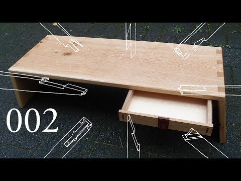 100% Wood Challenge Ep.2: Lapdesk with Mitch Peacock (No glue, no screws / Traditional Joinery)