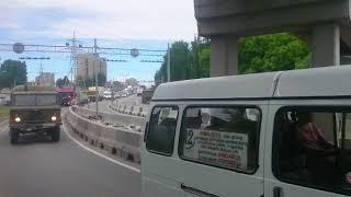 Две иномарки столкнулись под мостом в Бердске