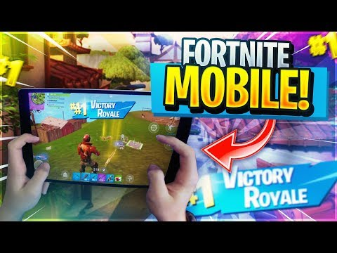 PRO FORTNITE MOBILE PLAYER on iPad // 615+ Wins // Fortnite Mobile Gameplay LIVE