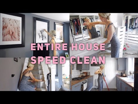 ENTIRE HOUSE SPEED CLEAN POWER HOUR | SPEED CLEANING | CLEAN WITH ME | ELLIE POLLY