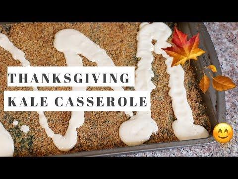 CREAMY KALE CASSEROLE! Healthy Thanksgiving Recipe