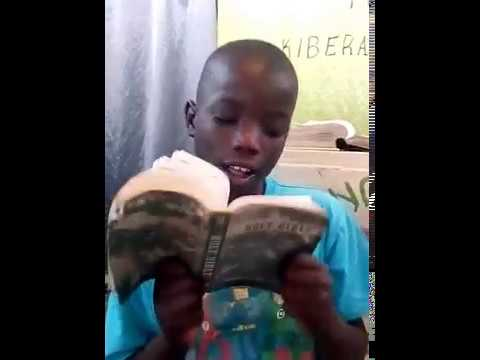 Young Shelton Bible Reading  - Kibera Slum Fellowship