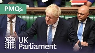 Prime Minister's Questions: 23 October 2019