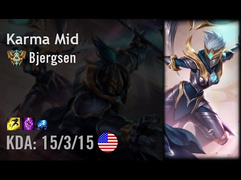Karma Mid vs Taliyah - Bjergsen - NA Challenger Patch 6.13