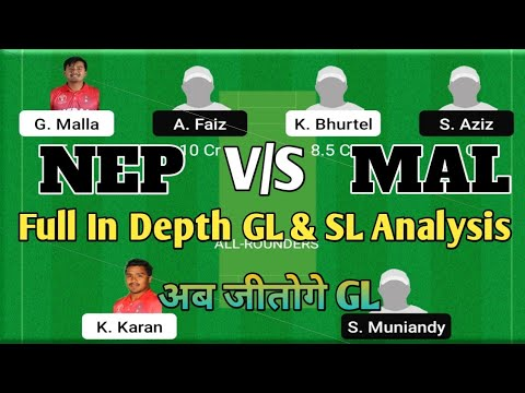 NEP vs MAL Dream11 Team || Nepal vs Malaysia T20 Match Today Dream11 Team || NEP vs MAL Dream11