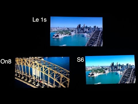 Display Comparison Samsung Galaxy On8 vs S6 vs LeTV Le1S