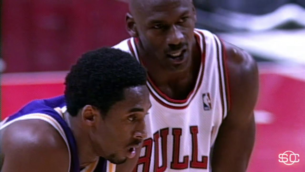 fd3b19757 Kobe Bryant goes head to head with Michael Jordan