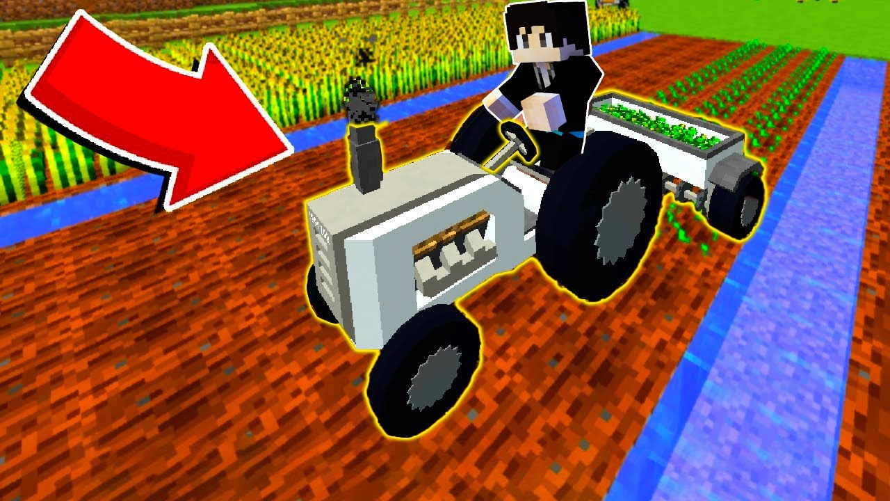 【木鱼】我的世界:制作拖拉播种施肥机,过上了老年种田生活!