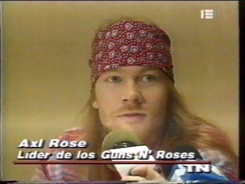 Conferencia de prensa Axl Rose & Daniel Grinbank – Guns N' Roses en Argentina (1993)