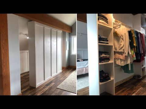 How to Build a Room Divider Closet