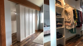 How To Build A Room Divider Closet Youtube