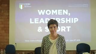 "Laura Maffei al Seminario ""Women, Leadership & Sport"""