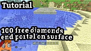 Minecraft Ps4 Giant Crater Diamonds At Spawn Seed Showcase Ps3 Xbox Vloggest