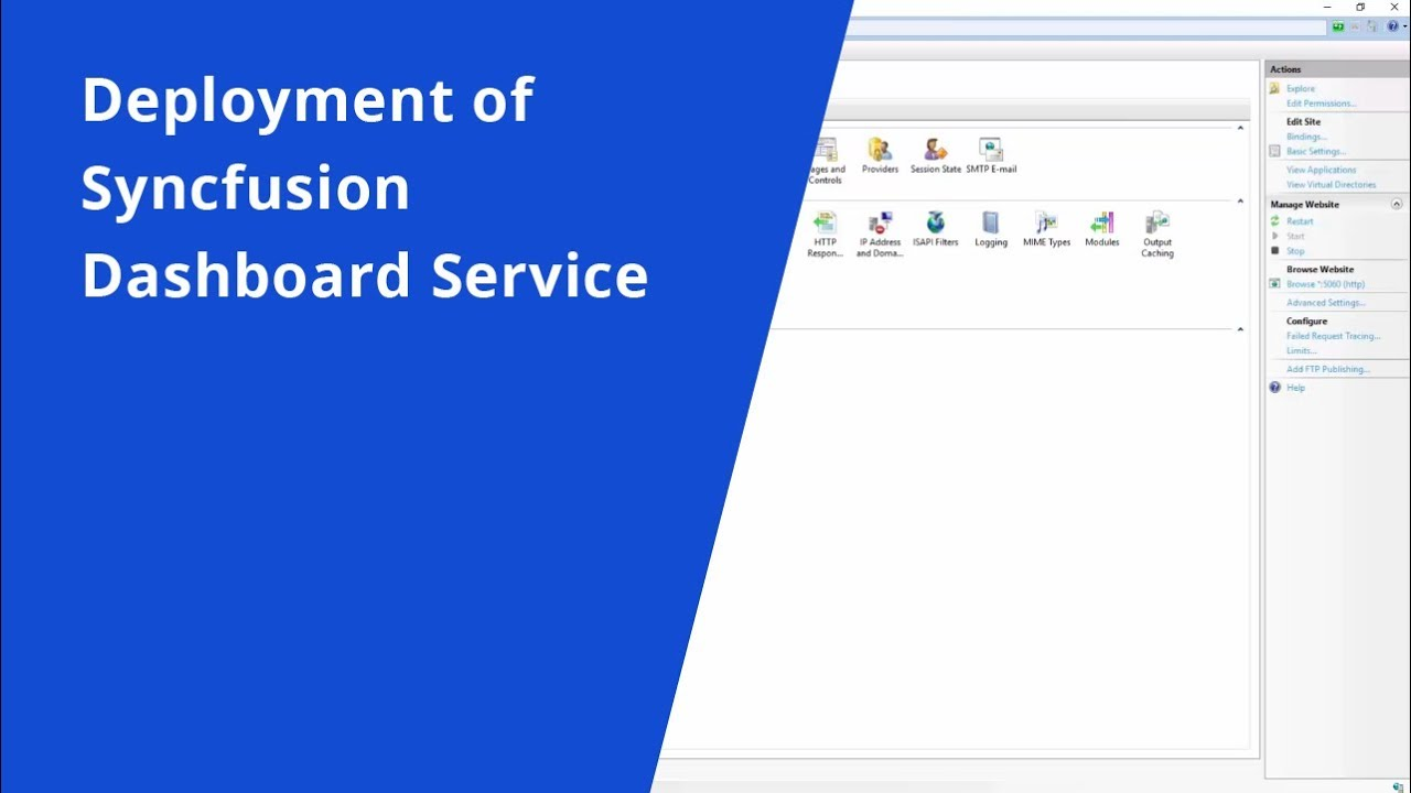 Deployment of Syncfusion Dashboard Service   Video Tutorials
