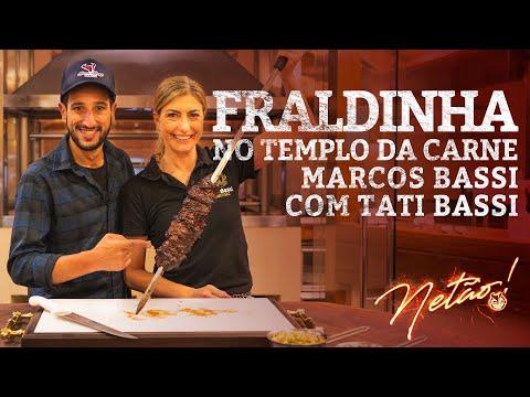 Fraldinha noTemplo da Carne Marcos Bassi com Tati Bassi | Netão! Bom Beef #45 thumbnail