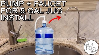 How to Install a Pump & Faucet for 5 Gallon Water Jugs in Kitchen (VEVOR)